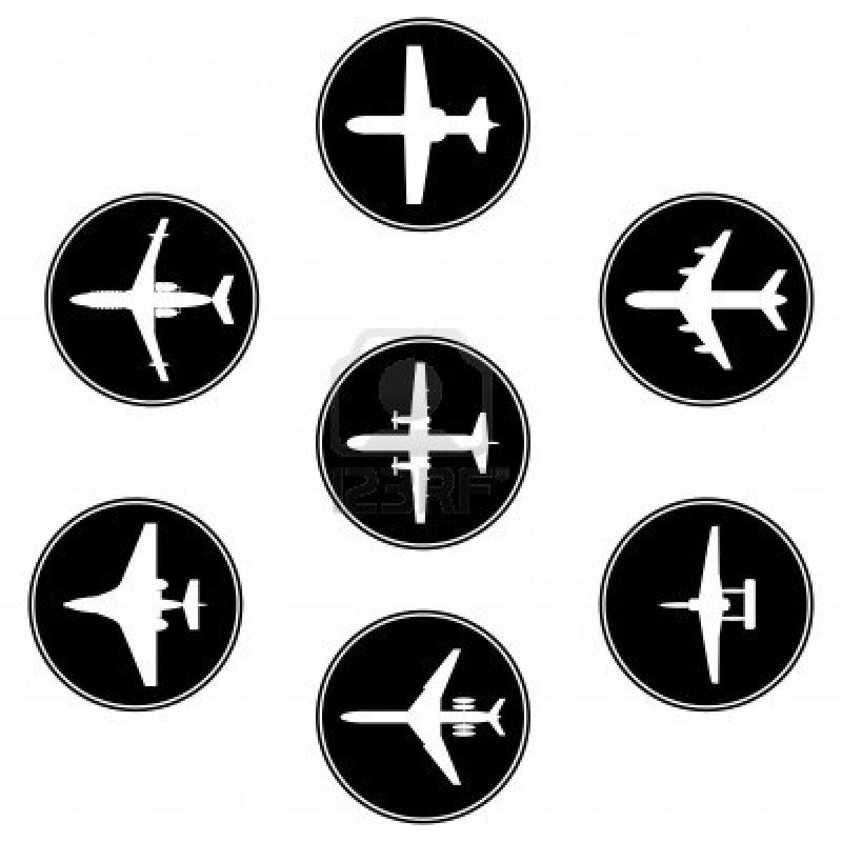 Airplane Logo Tracing Templates | Art Hawks